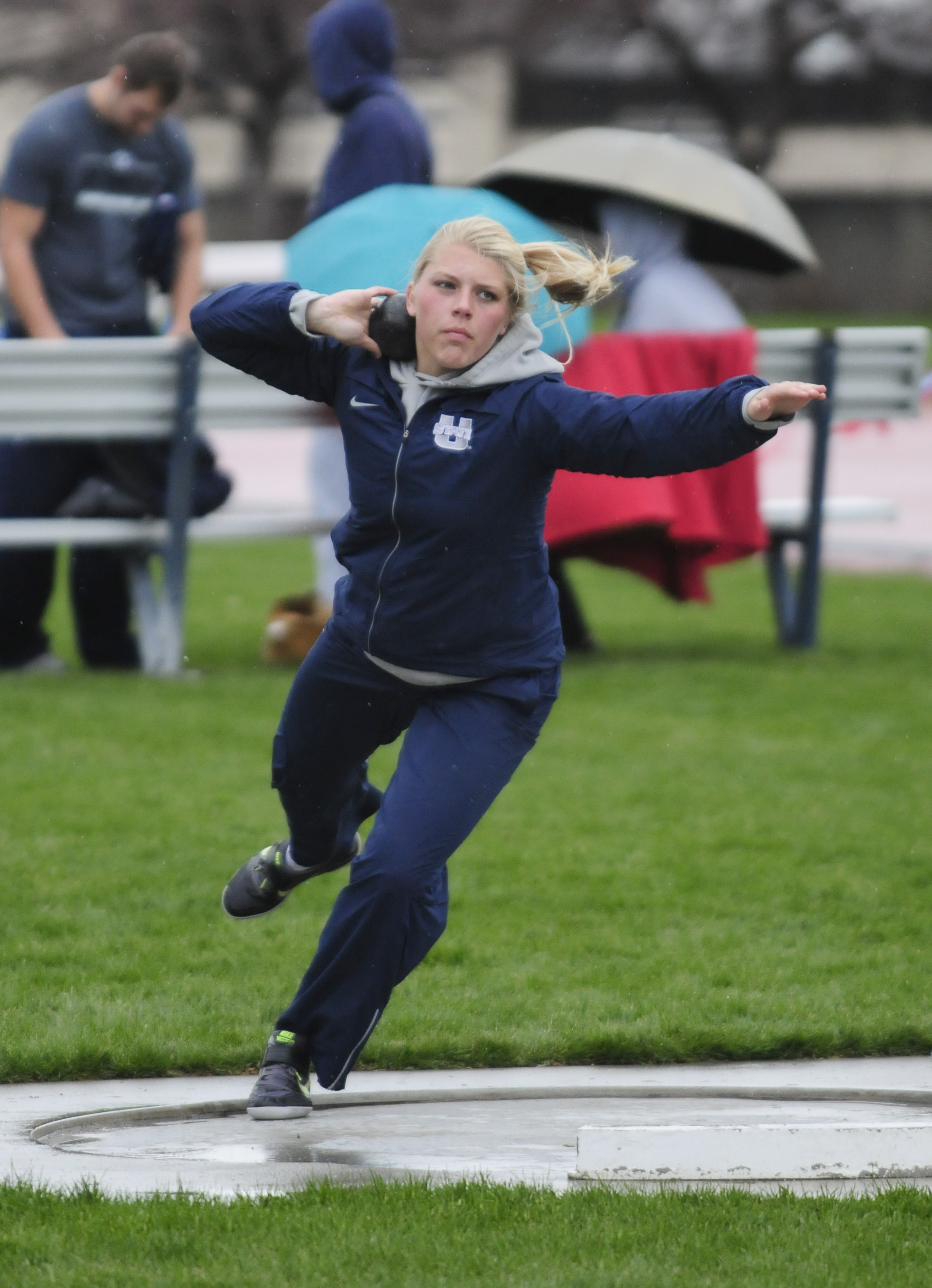 Utah State's outdoor track & field teams recorded four event wins at the Weber State hosted