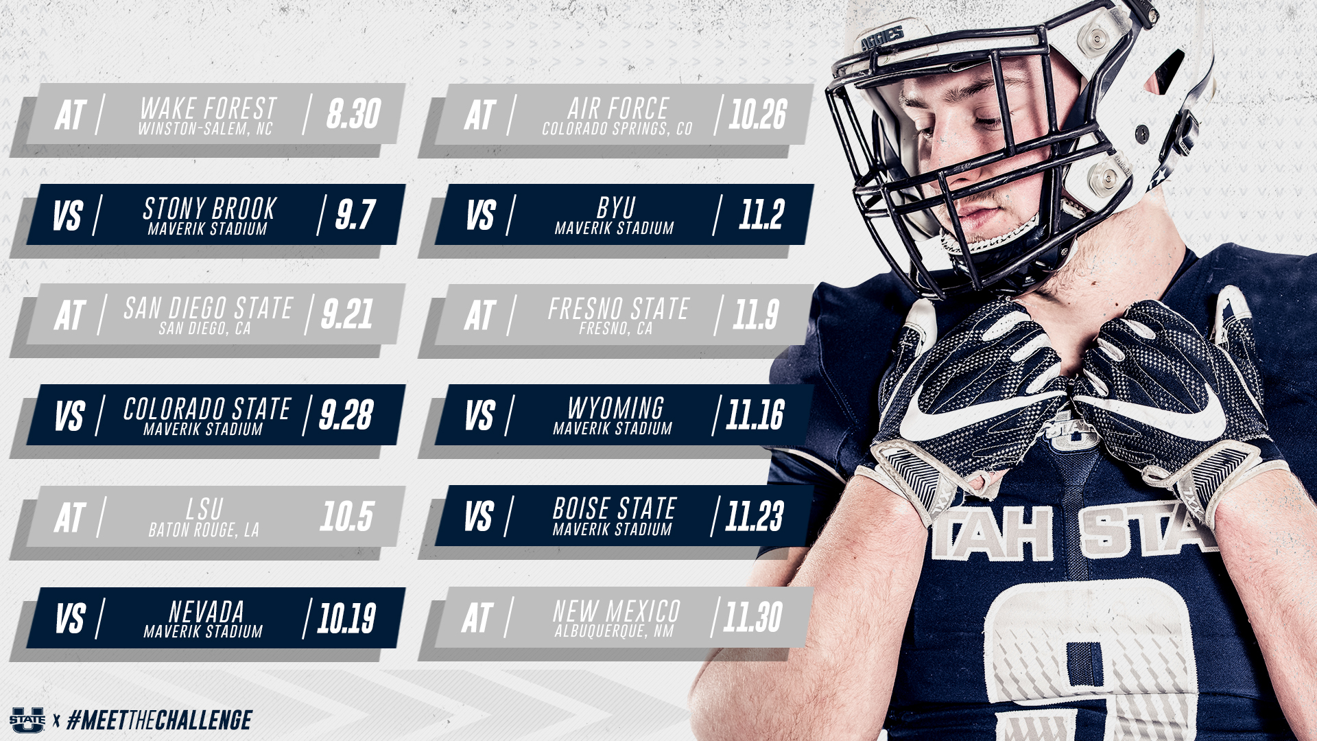 Mountain West Announces 2019 Football Schedule For Utah State Utah