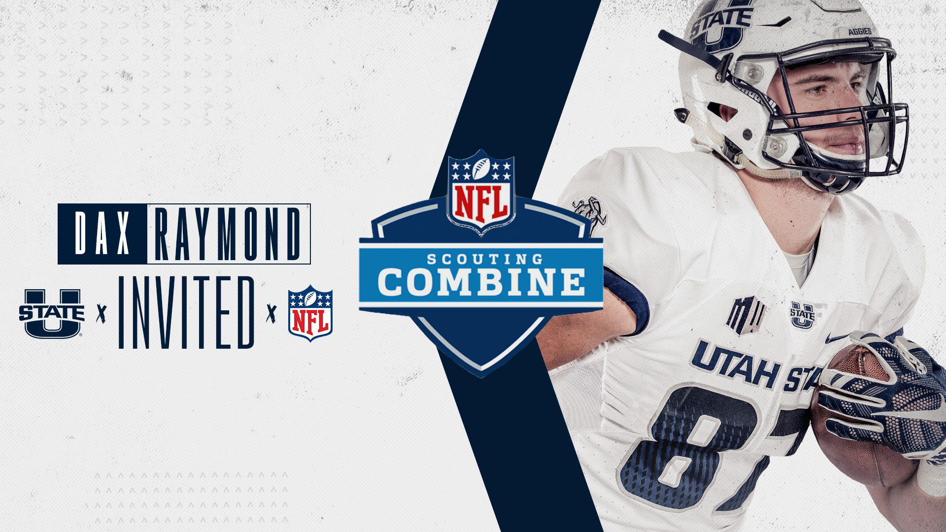 sale retailer 11d17 13775 Utah State's Dax Raymond Invited to NFL Scouting Combine ...